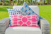 Cojines y sillas con tapizado exterior