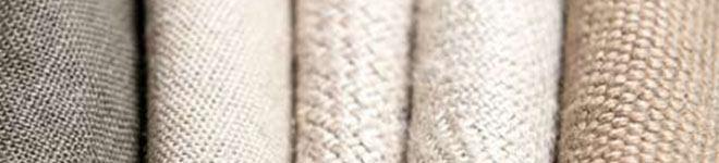 Cortinas de tela de lino