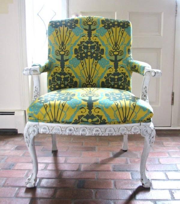 Silla con combinaciones de tapizado