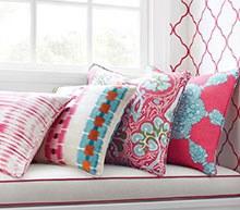 tela de algodón y lino para cojines